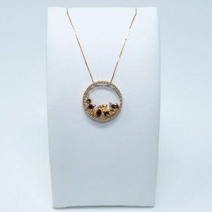 Gemstone Necklace - 10K Gold